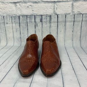 Cole Haan Shoes - Cole Haan Leather Woven Booties   Vintage